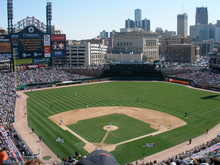 Detroit Tigers host the Yankees at Comerica Park on August 17, 2007.